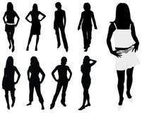 De vrouwensilhouetten van de manier Royalty-vrije Illustratie
