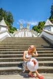 De vrouwentoerist van Portugal royalty-vrije stock foto's