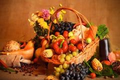 De vruchten en de groenten van de herfst Stock Fotografie