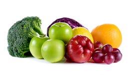 De vruchten en de groenten van de inzameling Stock Foto's