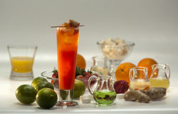 Ingrediënten voor niet-alkoholische cocktails royalty-vrije stock foto's