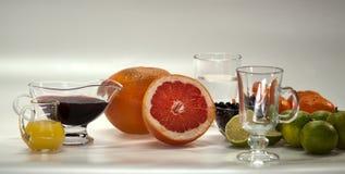Ingrediënten voor niet-alkoholische cocktails royalty-vrije stock foto