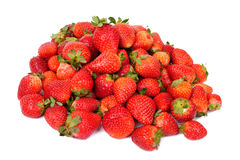De vruchten van aardbeien die op wit worden geïsoleerdi Stock Afbeeldingen