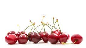 De vruchten van de kers met doorbladeren royalty-vrije stock fotografie