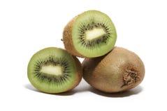 De vruchten van de kiwi die op wit worden geïsoleerda Royalty-vrije Stock Afbeelding