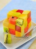 De vruchten van de kubus salade royalty-vrije stock foto's