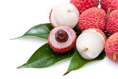 De vruchten van de lychee Stock Foto's