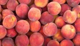 De vruchten van de perzik achtergrond Stock Afbeelding