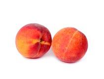 De vruchten van de perzik op wit Royalty-vrije Stock Foto's