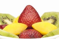 De Vruchten van de salade Stock Foto