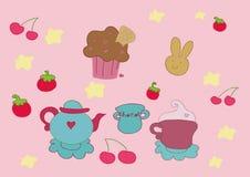 De vruchten van de thee elementen Royalty-vrije Illustratie