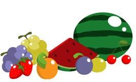 De vruchten van de zomer Stock Fotografie