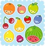 De vruchten van Kawaii Royalty-vrije Stock Afbeeldingen