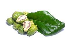 De vruchten van Noni Stock Fotografie
