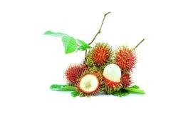 De vruchten van Rambutan Stock Afbeeldingen