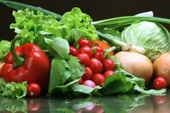 De vruchten van verse Groenten en andere levensmiddelen. Royalty-vrije Stock Afbeeldingen