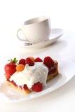 De vruchtencakecake van het dessert met bosbes Royalty-vrije Stock Fotografie