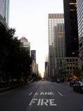 De vue avenue de stationnement vers le bas Photographie stock