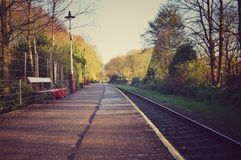 De vue gare ferroviaire de Summerseat vers le bas Photos stock