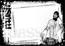 De vuile achtergrond van DJ Royalty-vrije Stock Afbeelding