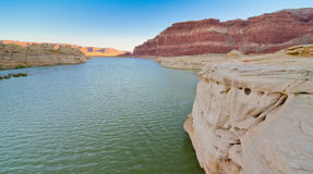 De vuile Duivelsrivier in Glen Canyon, UT Stock Fotografie