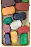 De vuile Kleurpotloden van de Was Royalty-vrije Stock Foto's