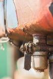 De vuile kraan van de metaalbrandstof Royalty-vrije Stock Afbeelding