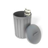 De vuilnisbak van het metaal stock illustratie