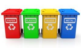 De vuilnisbakken Stock Foto