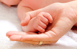 De vuist van de baby Royalty-vrije Stock Afbeeldingen