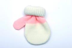 De Vuisthandschoen van de baby stock afbeelding