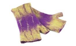De vuisthandschoenen van felted wol Stock Afbeelding
