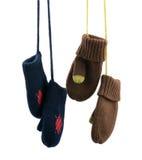 De vuisthandschoenen van kinderen. Royalty-vrije Stock Foto's