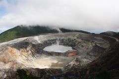 De Vulkaan Costa Rica van Poas Royalty-vrije Stock Afbeelding