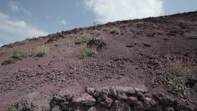 De vulkaan de Vesuvius, Italië stock videobeelden