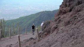 De vulkaan de Vesuvius, Italië stock footage