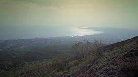 De vulkaan de Vesuvius, Italië stock video