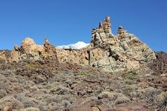 De vulkaan en Roques DE Garcia, Tenerife van Gr Teide, Canarische Eilanden Stock Foto's