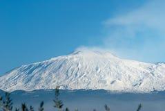 De vulkaan Etna Stock Foto's