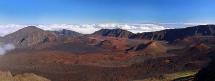 De Vulkaan Haleakala, Hawaï van het panorama (Maui) Stock Foto's