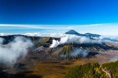 De Vulkaan in het Nationale Park van Bromo Tengger Semeru Royalty-vrije Stock Foto's