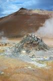 De vulkaan in IJsland Royalty-vrije Stock Afbeeldingen