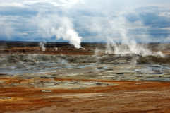 De vulkaan in IJsland Stock Foto