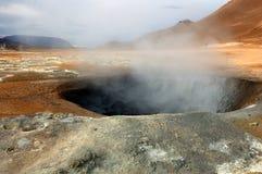 De vulkaan in IJsland Royalty-vrije Stock Foto's