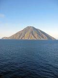 De vulkaan Sicilië Italië van Stromboli Stock Fotografie