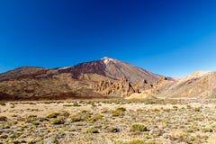 De vulkaan Teide en Nationaal Park Stock Foto