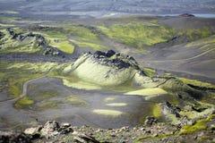 De vulkaan van de Lakykrater Stock Afbeelding