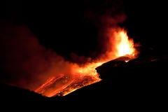 De vulkaan van Etna Stock Foto's