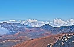 De Vulkaan van Haleakala en het Eiland van Maui van de Krater in Hawaï Royalty-vrije Stock Foto