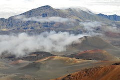 De vulkaan van Haleakala, Maui Stock Foto